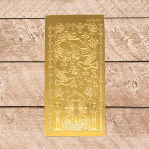 Sticker - AD - Communion Designs - Gold