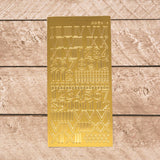Sticker - AD - Romanian Numbers - Gold