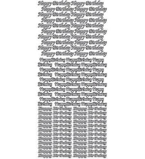 Sticker - AD - Happy Birthday Small - Silver