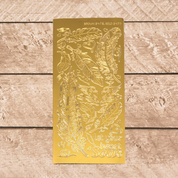 Sticker - AD - Feathers - Gold