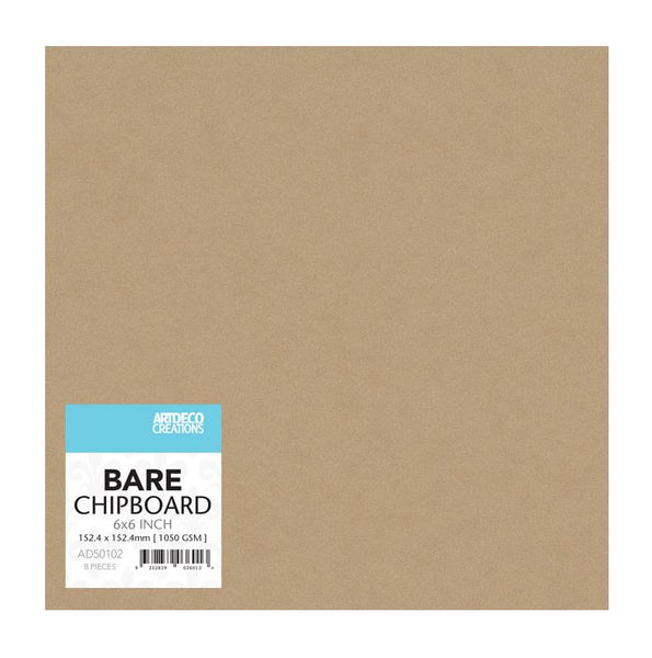 Bare Chipboard - 150mm x 150mm | 6 x 6in - (8 pieces)