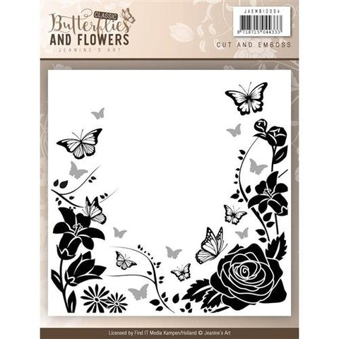 Find It Trading Jeanine's Art Embossing Folder - Classic Butterflies and Flowers