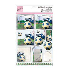 Anita's Foiled Decoupage - Football
