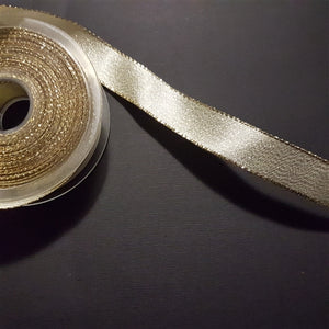 Birch - Craft Ribbon Gold w/Gold Trim 22mm - per meter