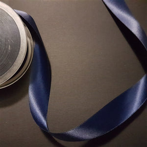 Birch - Craft Satin Ribbon 25mm Navy (Per meter)