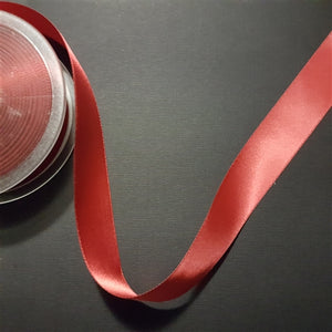 Birch - Craft Satin Ribbon 25mm Scarlet (Per meter)