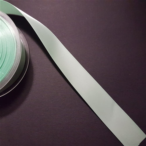 Birch - Craft Satin Ribbon 25mm Mint (Per meter)