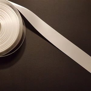 Birch - Craft Satin Ribbon 25mm White (Per meter)