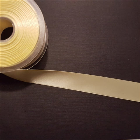 Birch - Craft Satin Ribbon 25mm Baby Maize (Per meter)