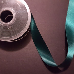 Birch - Craft Satin Ribbon 25mm Hunter Green (Per meter)
