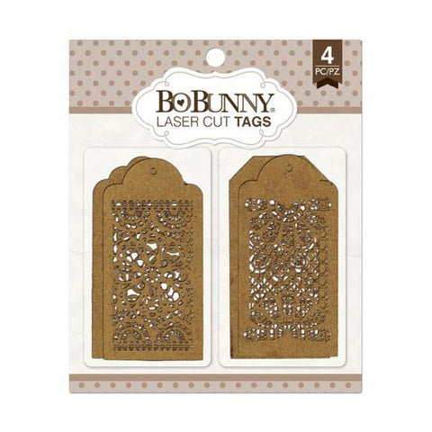 BoBunny - Lace Laser Cut Chipboard Tags