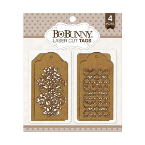 BoBunny - Trellis Laser Cut Chipboard Tags