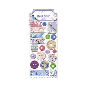 Bo Bunny - Secret Garden Chipboard Tags & Buttons
