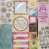 BoBunny Double sided Cardstock 12x12 - Faith - Happiness