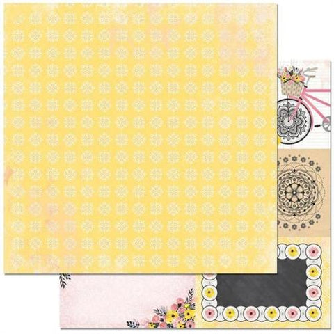BoBunny 12x12 Double sided Cardstock - Petal Lane - Delightful