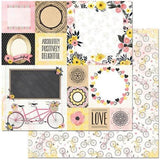 BoBunny 12x12 Double sided Cardstock - Petal Lane - Love Notes