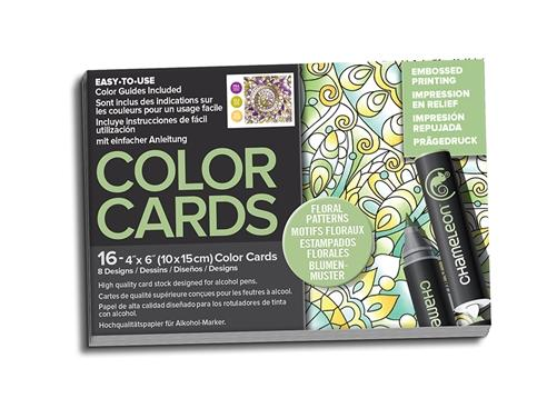 Chameleon Embossed Printing Color Cards - Floral Patterns