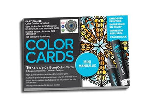 Chameleon Embossed Printing Color Cards - Mini Mandalas