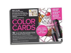 Chameleon Embossed Printing Color Cards - Sweet Treats