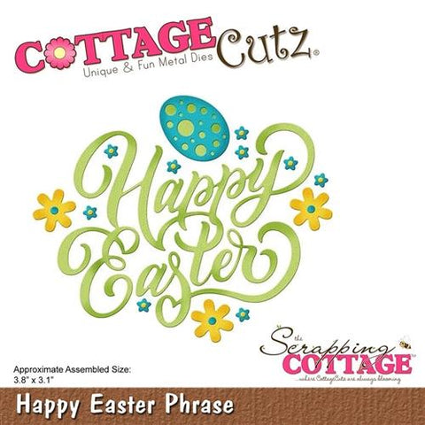 "Cottage Cutz Die - Happy Easter Phrase 3.8""X3.1"""