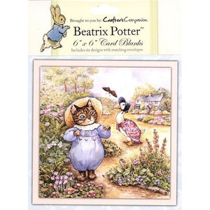Crafter's Companion - Beatrix Potter Blank Card & Envelopes (6x6/6 Designs)