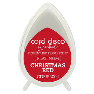 Card Deco Essentials Fast-Drying Pigment Ink Pearlescent Christmas Red | Couture Creations