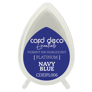 Card Deco Essentials Fast-Drying Pigment Ink Pearlescent Navy Blue | Couture Creations