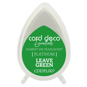 Card Deco Essentials Fast-Drying Pigment Ink Pearlescent Leave Green | Couture Creations
