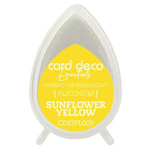 Card Deco Essentials Fast-Drying Pigment Ink Pearlescent Sunflower Yellow | Couture Creations