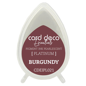 Card Deco Essentials Fast-Drying Pigment Ink Pearlescent Burgundy | Couture Creations
