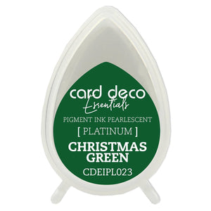 Card Deco Essentials Fast-Drying Pigment Ink Pearlescent Christmas Green | Couture Creations