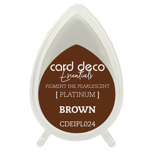 Card Deco Essentials Fast-Drying Pigment Ink Pearlescent Brown | Couture Creations