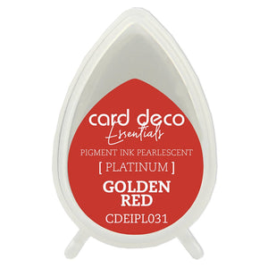 Card Deco Essentials Fast-Drying Pigment Ink Pearlescent Golden Red | Couture Creations