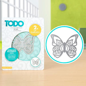 Todo Henna Butterfly Small - 61mm x 70mm | 2.4in x 2.8in - 2 dies WH