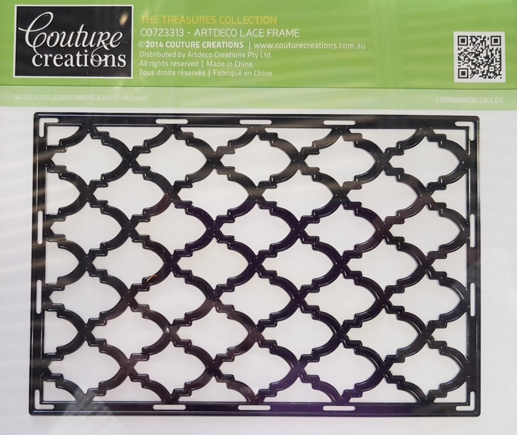 Couture Creations - The Treasures - Artdeco Lace Frame WH – Hobby ...