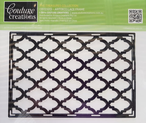Couture Creations - The Treasures - Artdeco Lace Frame WH