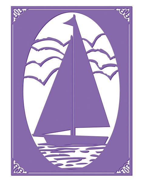 Emboss Folder 5x7 - HA - Sail Away