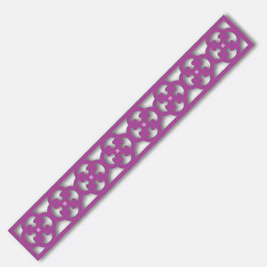 Art Deco Border (158.8 X 22.2mm ) Metricon - Intricutz - Couture Creations WH