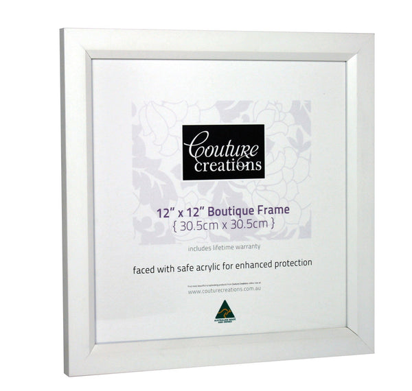 Boutique Frame - Tribeca Bevel White (12 x 12in)