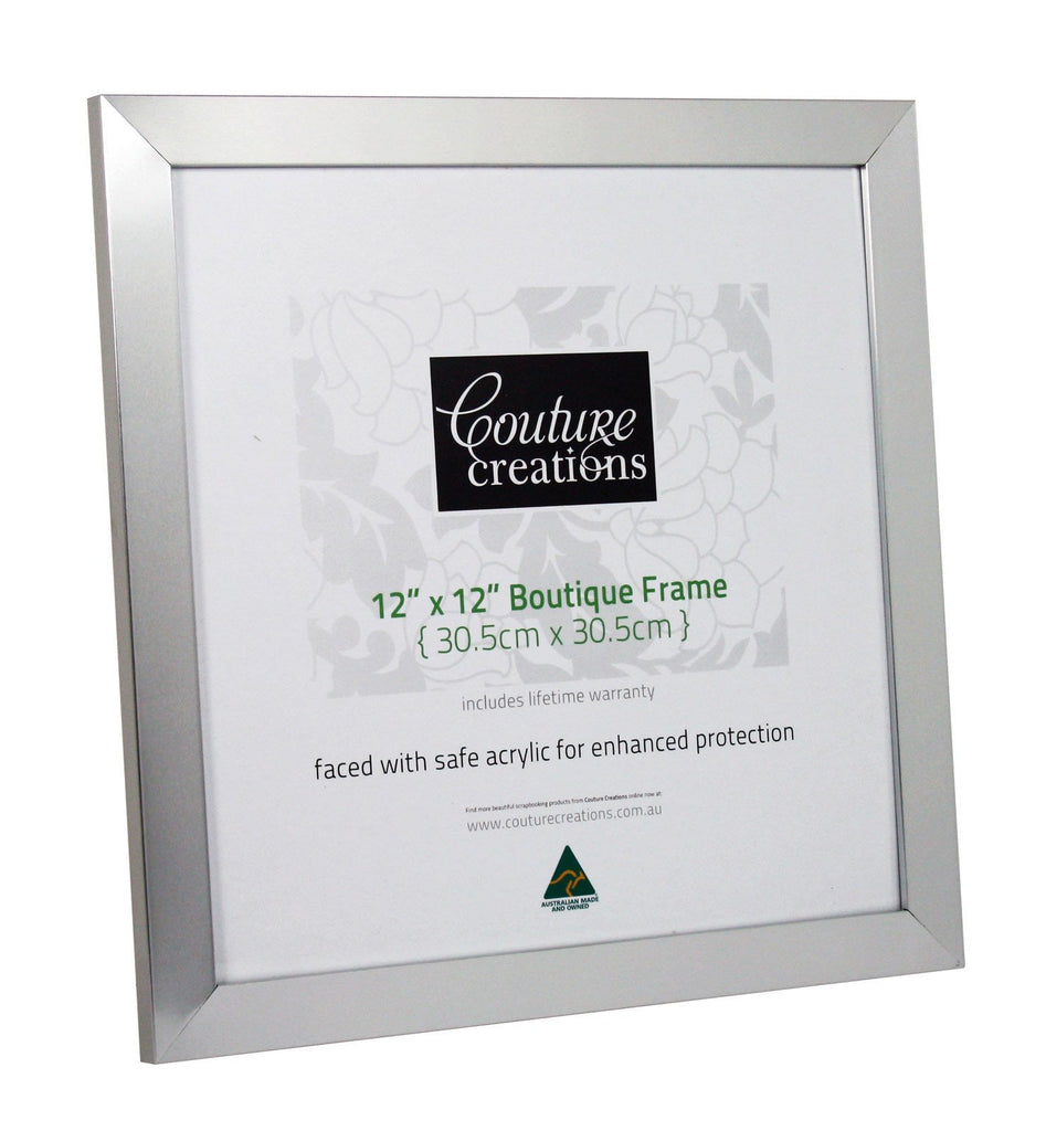 be439abbec1 Couture Creations - Boutique Frame - Silver Classic 12 x 12 ...