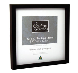 Boutique Frame - Shadow Box Mocha (12 x 12in)
