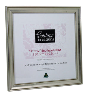 Boutique Frame - Classic Monarch Silver (12 x 12in)