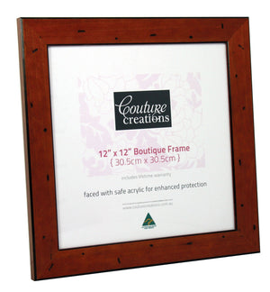 Boutique Frame - Distressed Mahogany (12 x 12in)