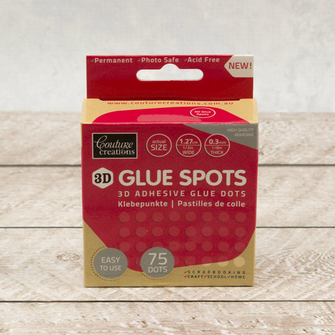 Adhesive - Glue Spots - 3D (1.27cm x 3 mm x 75pc)