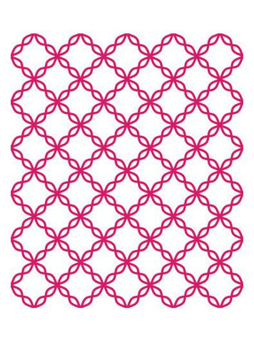Emboss Folder A2 - MI - Cotton Thread Quilt