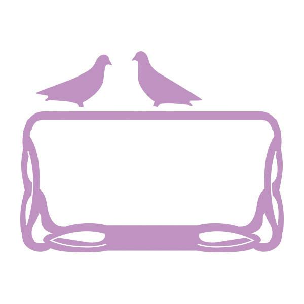 Die - SG - Pigeons on a Frame (68x37mm | 2.6x1.4in)