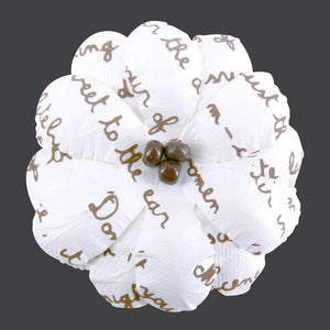 Flowers - Beaded Flower With Script Print - 50 pieces
