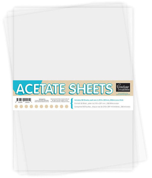 Couture Creations - A4 Acetate Sheets (5 Sheets) WH