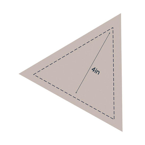 Die - QU - Quilting Equilateral Triangle 4in