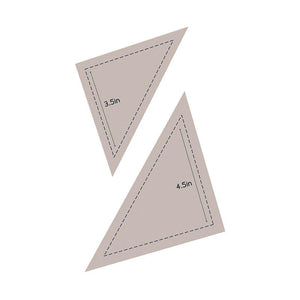 Die - QU - Quilting Half Square Triangle 3.5in + 4.5in